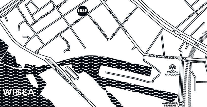 mapa dojazdu Restauracja Boska
